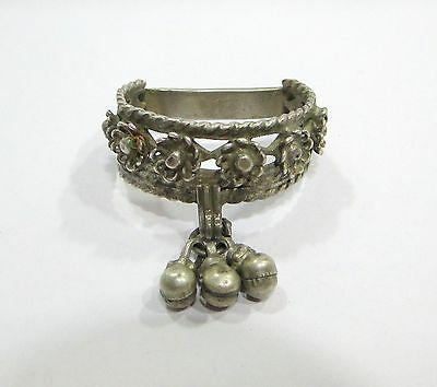 Vintage Antique Ethnic Tribal Old Silver Big Toe Ring India