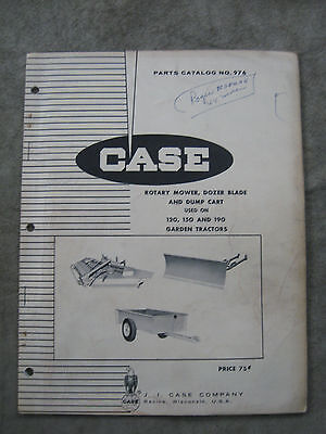 Case rotary mower grader Blade Dump cart parts catalog 120 150 190 lawn tractors