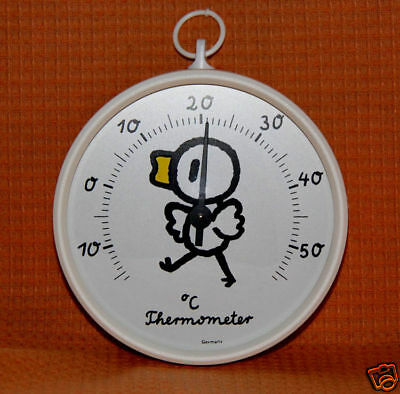 Zimmerthermometer Kinderzimmerthermometer Thermometer Quack-Ente +55 Grad