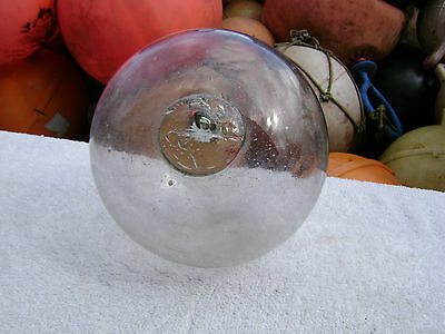 Rare 7 Inch Clear Glass Float Ball Buoy Bouy (#0416)