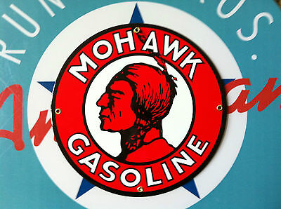 classic MOHAWK GASOLINE - PORCELAIN COATED SIGN - shipping discounts