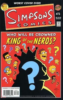 Bongo comics Simpsons #73 73 Bart Homer American Edition NM FREE UK POST