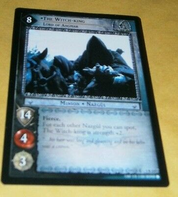 Lotr Tcg Fotr Rare Card - 1R237 The Witch-King - Lord Of Angmar