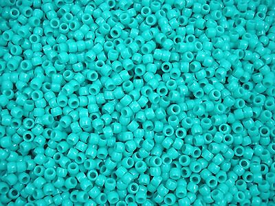 Pony Beads 1000pcs Jade 4x3mm Craft Jewellery Spacer Acrylic FREE POSTAGE