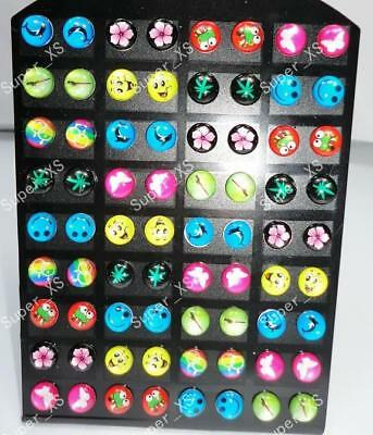 Wholesale jewelry lots 72pcs resin & stainless steel earrings free shipping