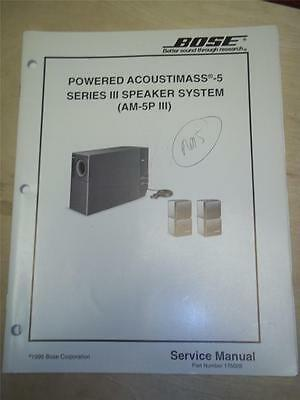 bose service manual powered acoustimass 900 speaker system am900p rh picclick com Acoustimass Unit Acoustimass White 5.1 Speaker Wire