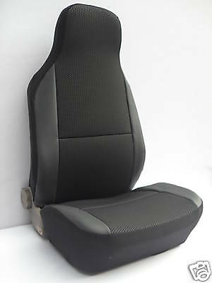 Seat Mii Car Seat Covers - Ebony Black Cloth Fabric - 2 Fronts