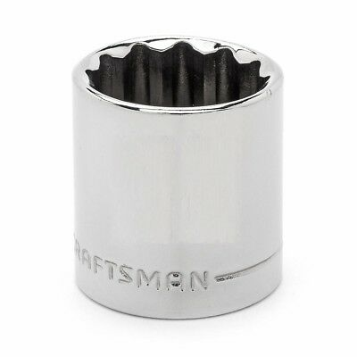"Craftsman 3/8"" Drive SAE 12pt Shallow Sockets - Any Size STD Inch 12 Point"