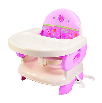 NEW Summer Infant Deluxe Comfort Booster Seat High Chair Baby Feeding PINK
