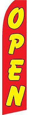 SUPER 15' SWOOPER RED YELLOW OPEN FLAG advertizing banner sign NEW feather #518