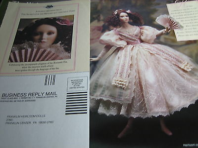 Franklin Mint CATHERINE Poetry of the Fan Doll Ad / Advertisement ONLY
