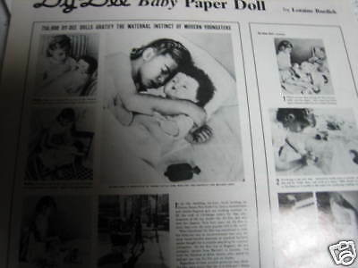 5pg Effanbee Dy Dee Paper Doll MAGAZINE ARTICLE Illustrated A1