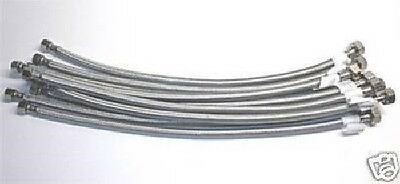 """Plumbing Lot Of 100 Pcs 20"""" Stainless Steel Faucet Supply Lines 1/2""""ips X 3/8""""od"""
