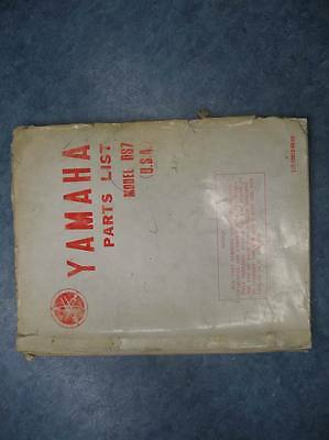 Yamaha Parts List Numbers Manual Ds7