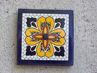 Handpainted Tile - Classic Talavera Pattern #2 - Mexico