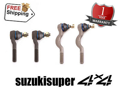 4 Mitsubishi Pajero NH NJ NK NL Inner + Outer Tie Rod End Set 1991-2000