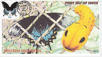 Jvc Cachets - 2013 Spicebush Swallowtail Butterfly Issue First Day Cover Fdc #3