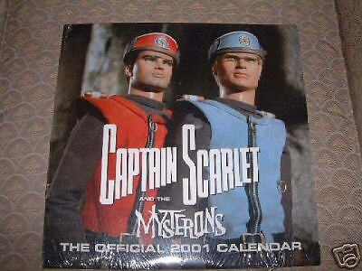 Gerry Anderson Captain Scarlet 2001 Calendar Itc Sealed