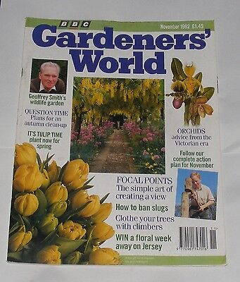 Gardeners' World November 1992 - It's Tulip Time/orchids/how To Ban Slugs
