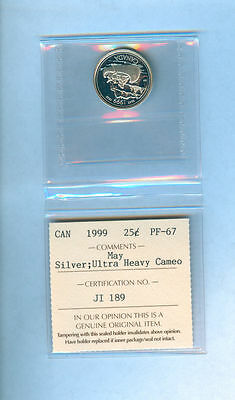1999, Canada May Silver Twenty-Five Cents Uhc