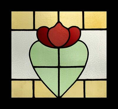 Fabulous Floral Edwardian Antique English Stained Glass Window