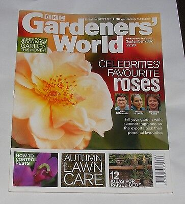 Gardeners' World September 2002 - Celebrities Favourite Roses/autumn Lawn Care