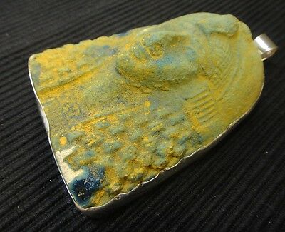 HUGE KING TUT and sterling silver handmade pendant, Big NEW statement jewelry