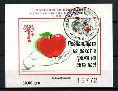 Macedonia 1996 Anti-Cancer Week Imperf Cto Used M/S #A35205