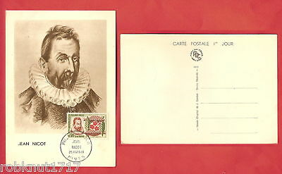 CPSM postcard First Day Cover Premier Jour mars 1961 JEAN NICOT NIMES 30 Gard A