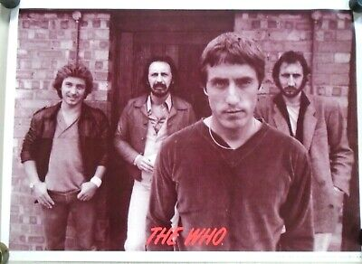 """the Who -Vintage Poster - Sepia tone - Exc.New condition  22x30"""""""