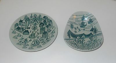 Lot 2 Nymolle Hoyrup Scandinavian Art Pottery Dishes