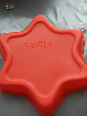 """Silicone Mould 9""""(23cm) Large Star Cake Tin-Baking/Christmas Pan/Form"""