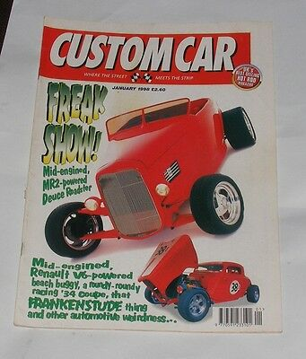 Custom Car Magazine January 1998 Freak Show!