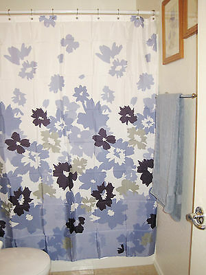 Curtains Ideas apt 9 shower curtain : Apt 9 Green Blue & White Floral Shower Curtain • £10.50 - PicClick UK