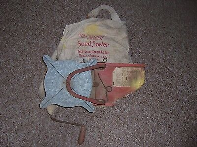 Antique Vtg Cyclone Seed Sower Farm Tool - Primitive Decor