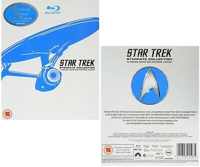 STAR TREK 1979 - 2002 - MOVIES 1-10  STARDATE COLLECTION Complete RgFree BLU-RAY
