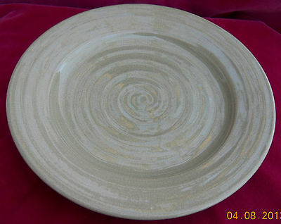 Rowe Pottery Dinner Plate S Green Sage Handmade Country Primitive Rare