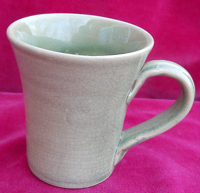 Rowe Pottery Works Coffee Mug S Cup Green Sage Rpw Country Primitive Rare