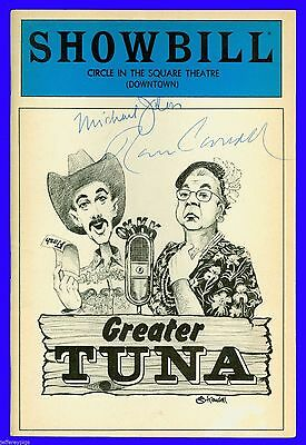 Playbill + Greater Tuna + Autographed by + Michael Jeter , Ronn Carroll