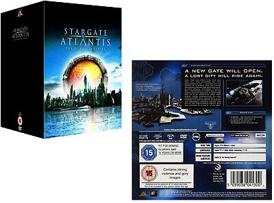 STARGATE SG-A ATLANTIS 1-5 (2004-2009) COMPLETE TV Series Seasons R2 DVD not US
