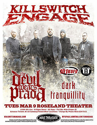 Killswitch Engage 2010 Portland Concert Tour Poster