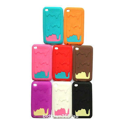 2pcs x soft Melt Ice Cream Gel Silicone case cover Skin for  Ipod touch 4 4G Gen