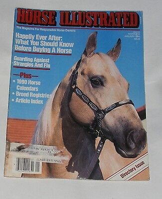 Horse Illustrated January 1990 - Directory Issue/happily Ever After