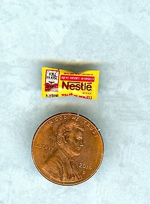 SMALLER 1/2 Half Inch Scale   Dollhouse Miniature  Chocolate Chips bag