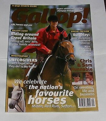 Gallop!  September 1997 - The Nation's Favourite Horses/burghley Preview