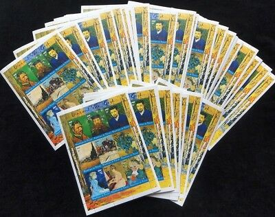 CHAD TCHAD 2001 Van Gogh Art Paintings 300F Perf Sheets of  9x50(450Stamps[D1183
