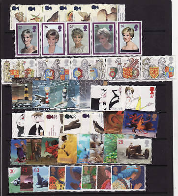1998 COMMERATIVE 10 UNMOUNTED MINT SETS..just £19.76