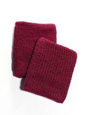 Large Dark Red Sweat Band Wristbands