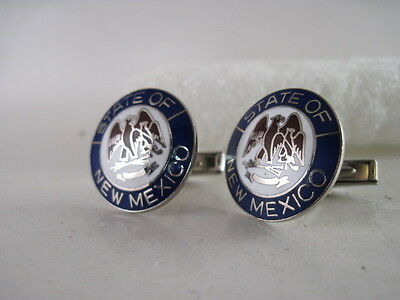 New Mexico   State Seal cloisonne  cufflinks