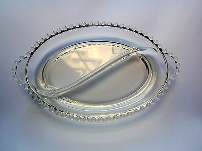 Antique 2 Pt Oval Relish Dish Imperial Glass Candlewick